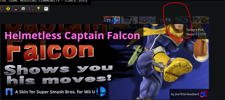 Helmetless Captain Falcon Super Smash Bros Wiiu Skin Mods