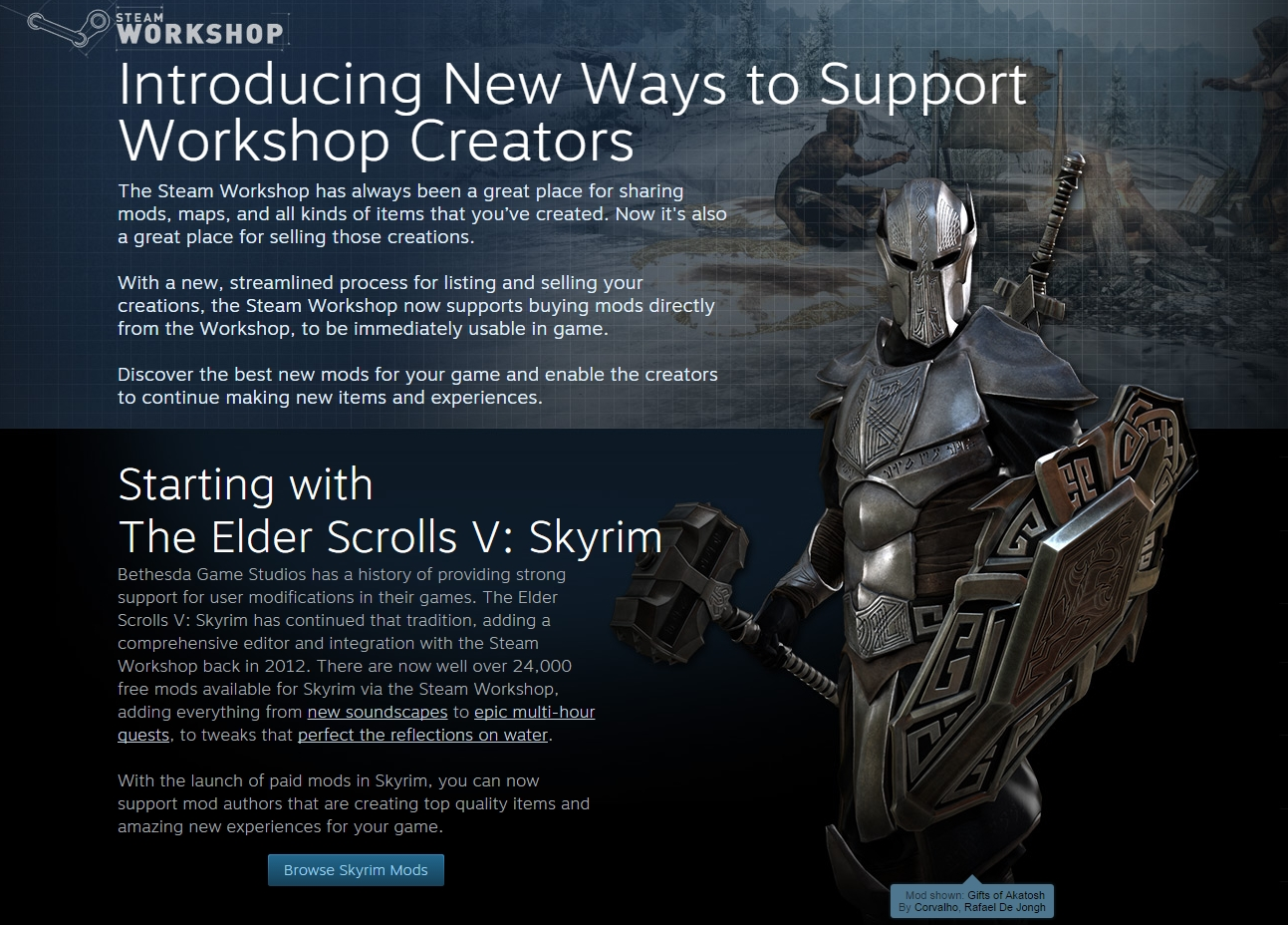 Introducing New Ways to Support Workshop Creators [Steam