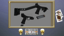 Micro Gattling handgun - Jack of Clubs