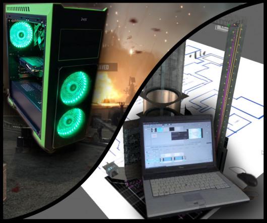 2018 desktop PC vs. 2007 laptop