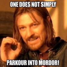 Parkour Mordor