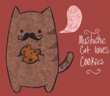 Mustache Cat loves Cookies