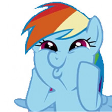 Rainbow Dash's amazing face