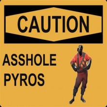 CAUTION: Asshole Pyros