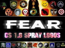 Fear games spray logos