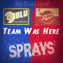 Blu & Red Team Was Here (Sprays)