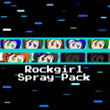 Rockgirl - Rule 63 Megaman (w/ Spray Pack)