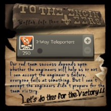 In TF2 Caliginous Caper - To Warn The Engineers