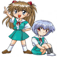 Mini Asuka and Rei
