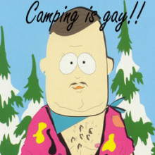 Camping is gay