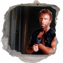 Chuck Norris behind a wall!