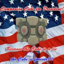 Companion Cube for President