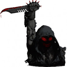 Disturbed Reaper with Knife