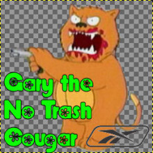 Gary the No Trash Cougar