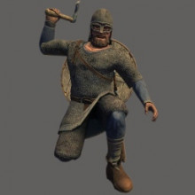 Huscarl with Throwing Axe