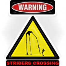 Striders Crossing Sign