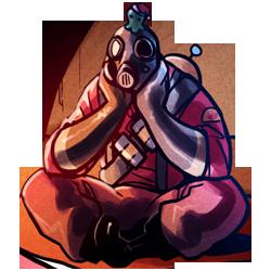 Sitting Pyro with Brain Slug