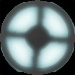 Blue animated TF2 logo