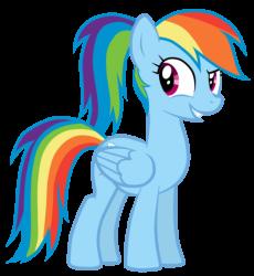 Rainbow Dash Pony Tail HI-RES