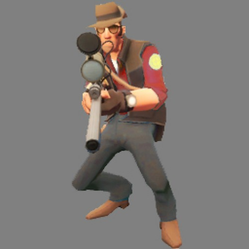 TF2_Red_Sniper_Crouched Spray screenshot #1