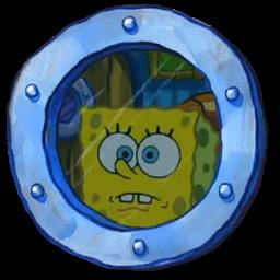 Spongebob Staring Through a Window. (Updated)
