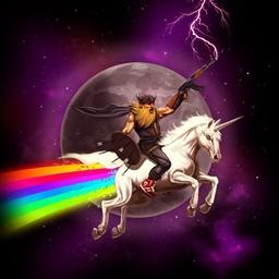 The unicorn that shits rainbows Spray preview