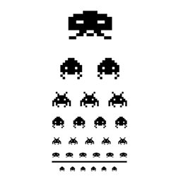 Space Invaders Eye Chart Spray preview