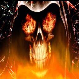Skull on Fire Spray Spray preview