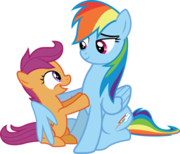 Rainbow Dash and Scootaloo Spray preview