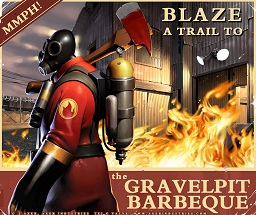 Pyro Gravelpit Barbeque Poster Spray preview