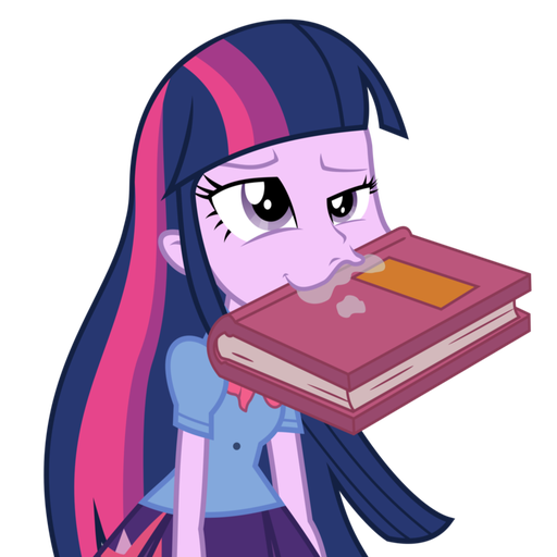 Twilight Sparkle Eating Books