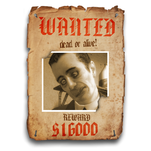 "G-Man's ""WANTED"" Paper Sign"