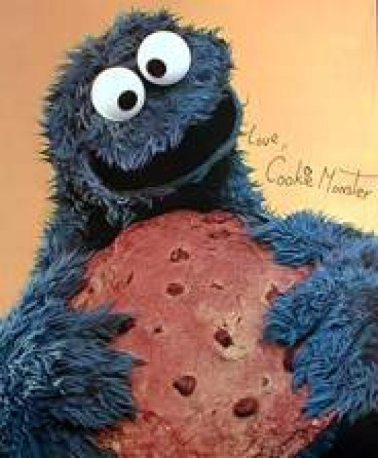 Cookie Monster , signated