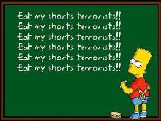 Eat my Shorts Terrorists Spray screenshot #1