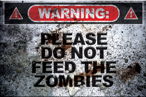 Please Do Not Feed The Zombies Spray preview