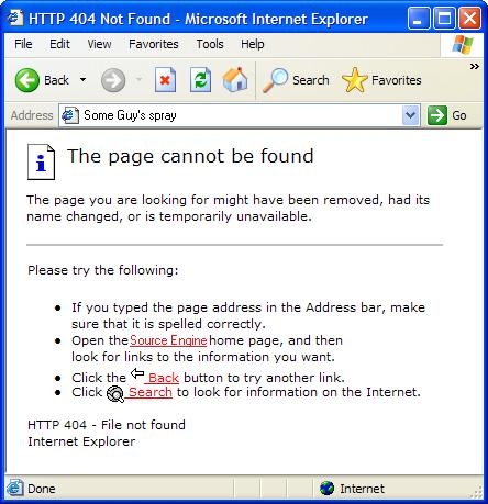 Error 404 Spray Not Found Spray preview