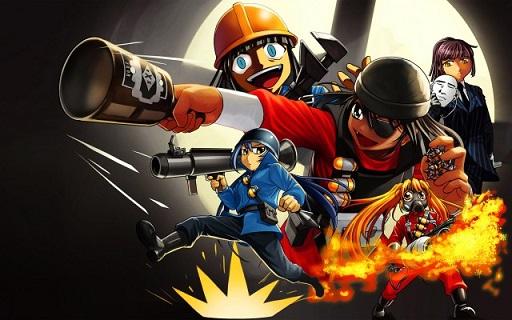 Team Fortress 2 anime (2 sprays) Spray preview