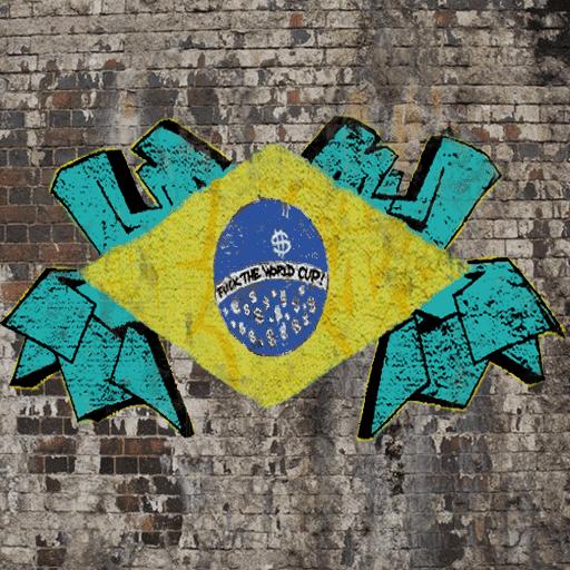Rio anti-fifa graffiti