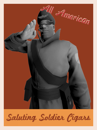 Saluting Soldier Cigars Poster preview