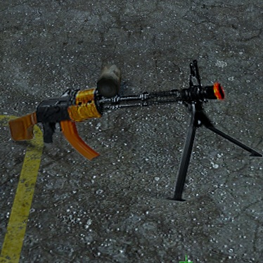 Fake gun(anamorpic) Spray preview