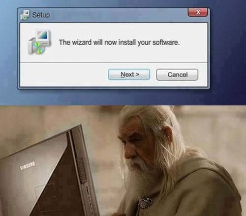 The Wizard Will Now Install Your Software MEME Spray preview