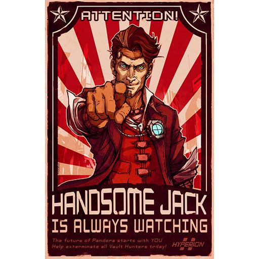 Borderlands Handsome Jack Poster Handsome Jack Poster Spray