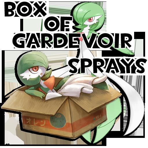 Box of Gardevoir Sprays