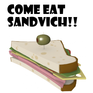 COME EAT SANDVICH!! [FADING] Spray preview