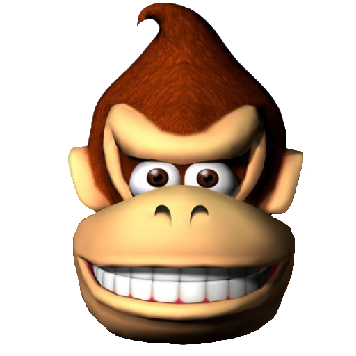 Gallery For > Donkey Kong Head