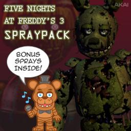 FNAF3 Spraypack Spray preview
