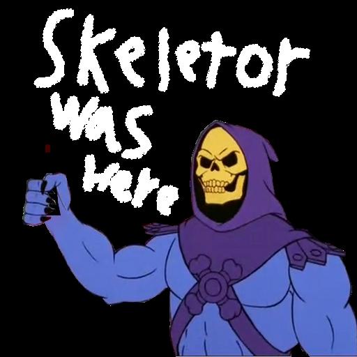 Skeletor was here spray. Spray preview
