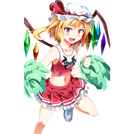 Cheerleader Flandre (Team Fortress 2 > Sprays > Anime Art