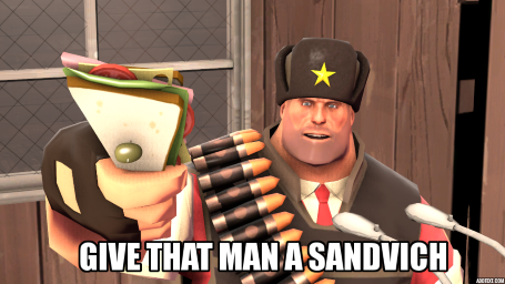 Give that man a sandvich