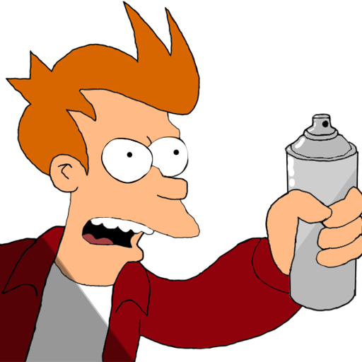 "Fry ""Shut up and take my spray"" Spray preview"